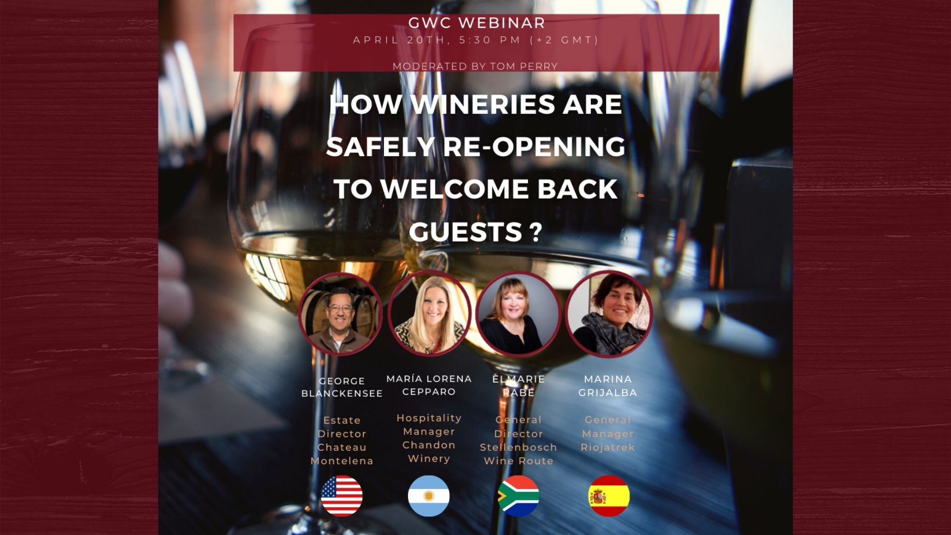 Great Wine Capitals Webinar: How are Wineries safely re-opening to welcome back guests?