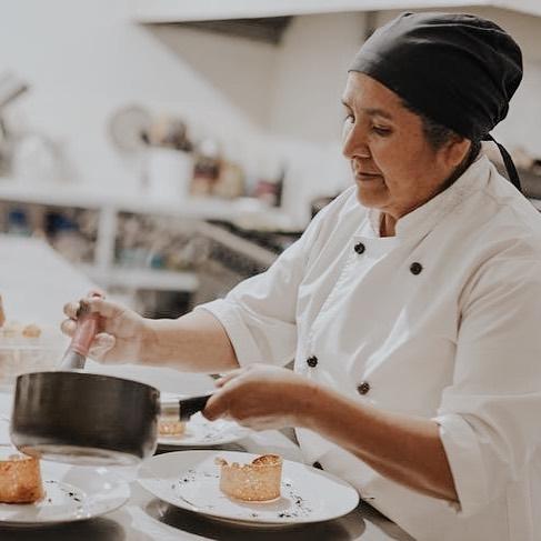 Miriam Chavez cooking