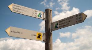 Hiking Rheinhessen - Signpost