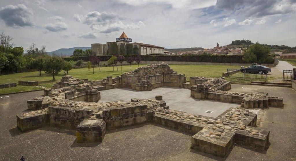 Ruins of the Hospice of San Juan de Acre near Bodegas Corral in Navarrete, La Rioja