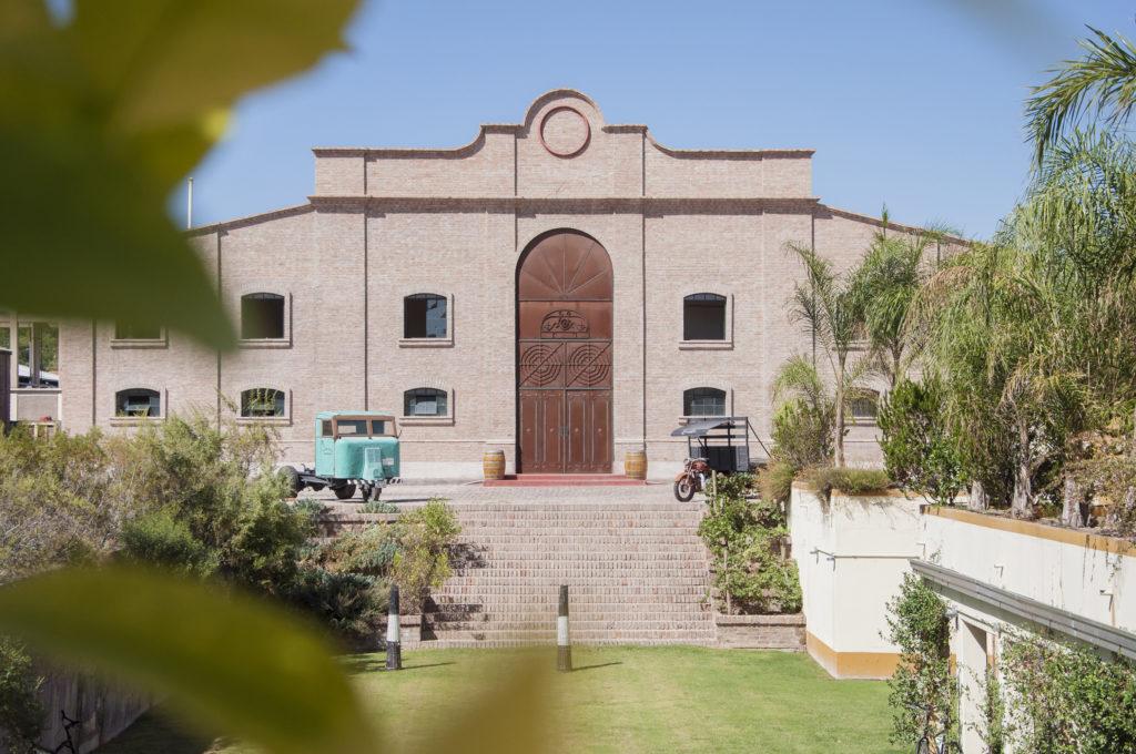 The facade of Escorihuela Winery