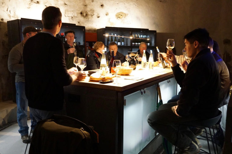 BottleStop wine tasting in a historical beer cellar. Credit: BottleStop